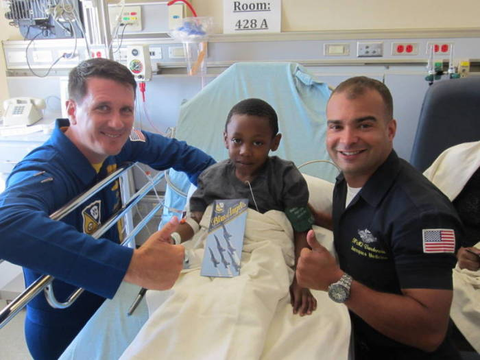 blue angels visit Children's